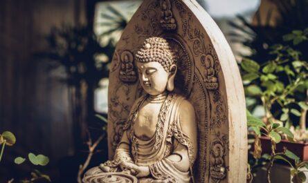 Buddha, který symbolizuje buddhismus.