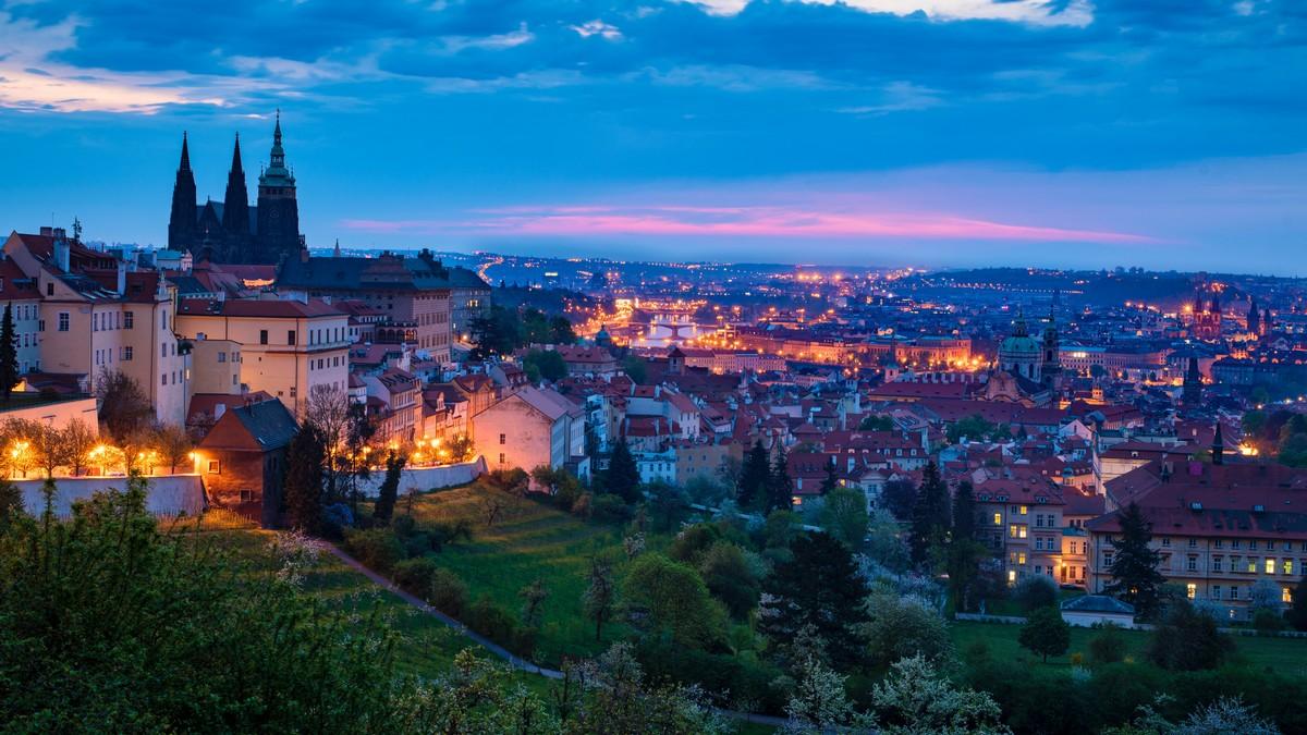 Pražský hrad, kde má sídlo prezident České republiky.